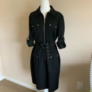 Michael Kors Roll Sleeve Dress with belt